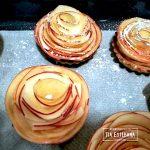 receta tartaletas de manzana en flor